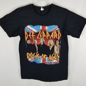 Anvil DEF LEPPARD and POISON double graphic tee SM